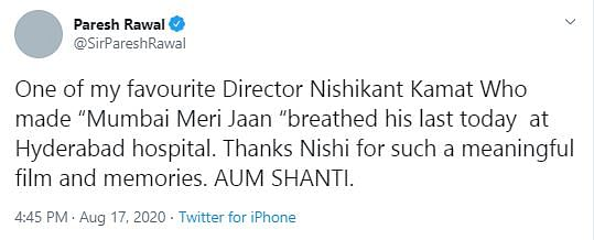 Ajay Devgn, Riteish, Randeep Remember Nishikant Kamat