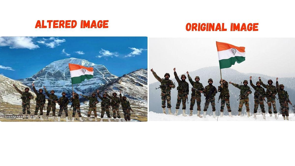 Fake Photo of Indian Army Atop Kailash Mansarovar Goes Viral