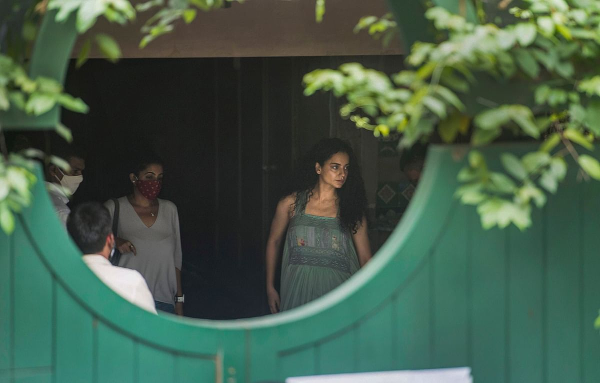 Kangana Ranaut arrives at her Mumbai office.