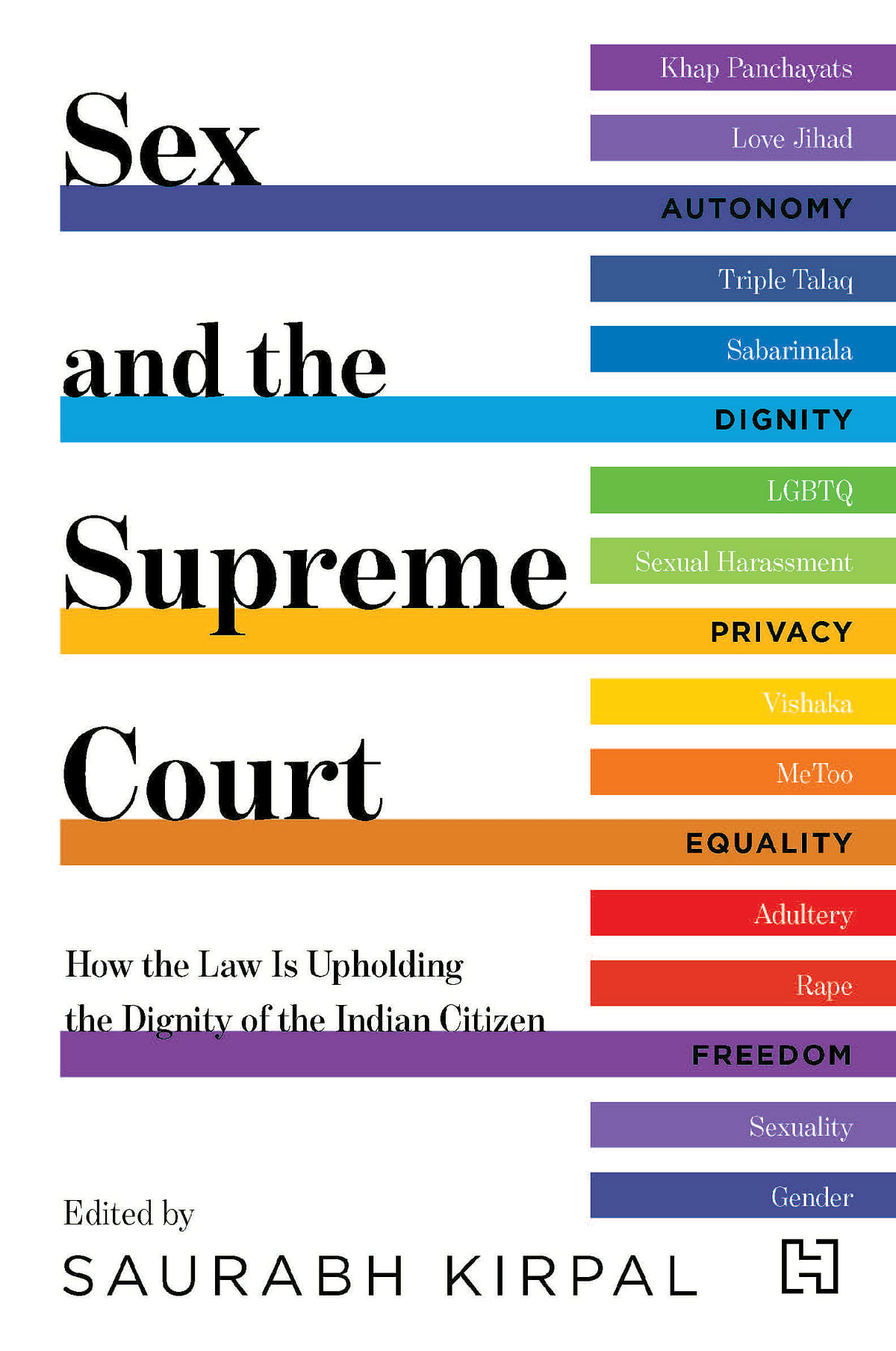 Book cover for 'Sex and The Supreme Court'.