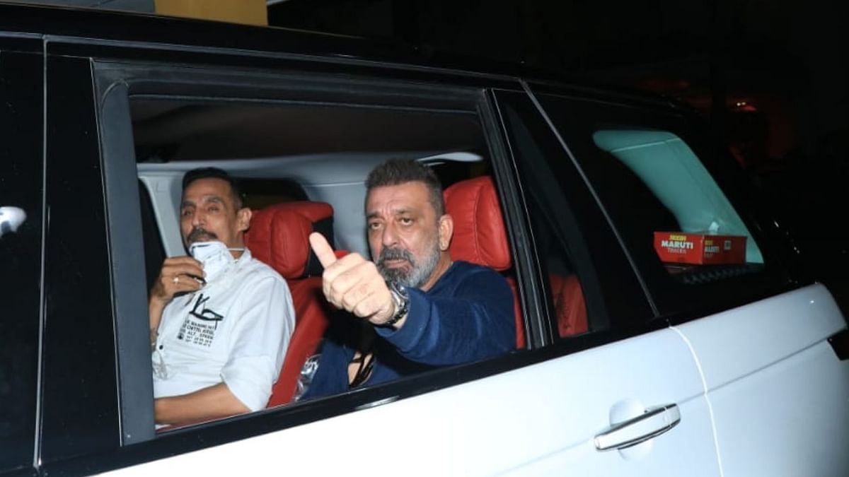 Sanjay Dutt back on sets of 'Shamshera' after the first round of treatment for lung cancer.