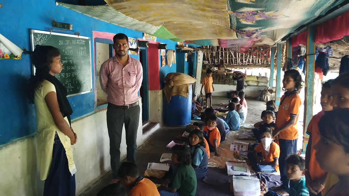 Neeraj Saxena, an assistant school teacher, teaches more than 100 tribal students in Raisen district of MP.