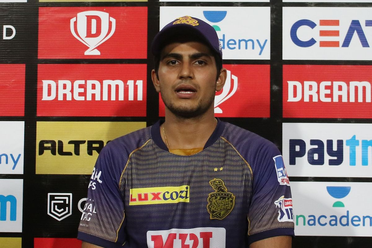 Opener and Man of the Match Shubman Gill speaks at a press conference after KKR's win over Sunrisers Hyderabad.