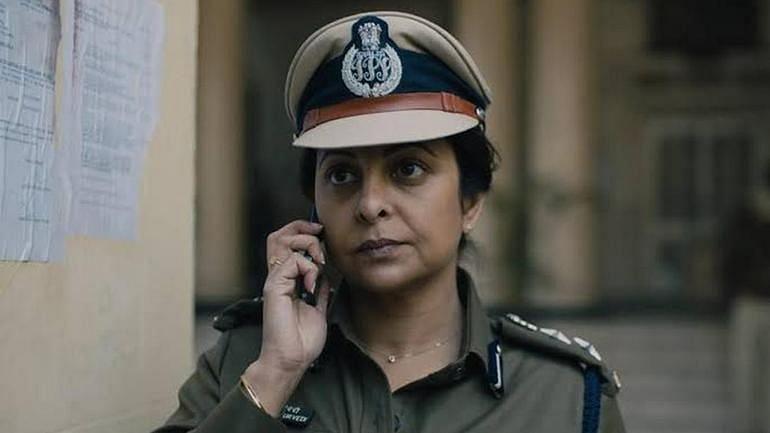 Shefali Shah in a still from <i>Delhi Crime</i>.