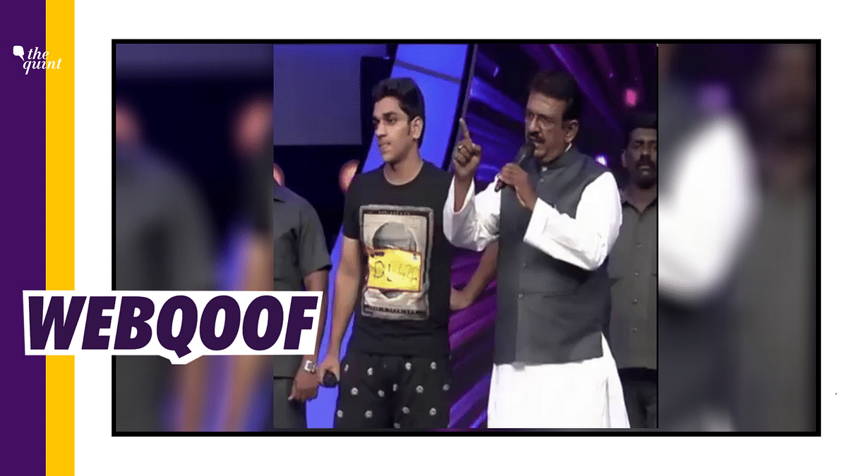 A prank on Zee TV's reality show, Dance India Dance, is being shared out of context as a 'BJP leader's son creating ruckus on being rejected.'