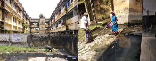 Sewage water logging in DMCH premise