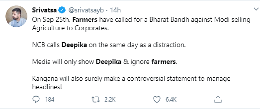 NCB Summons Deepika On Same Day As Farmers' Protest? Asks Twitter