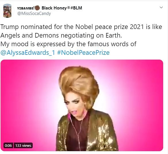 US President Donald Trump Nominated for 2021 Nobel Peace Prize