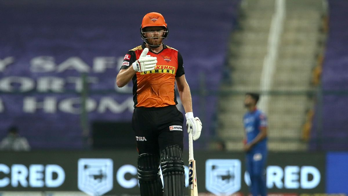 Bairstow scored 53 runs against Delhi and helped Hyderabad win their first game in IPL 2020.