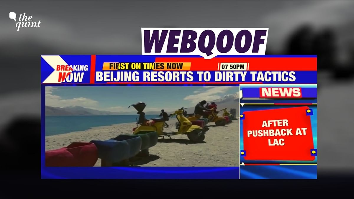 Times Now aired the visuals of the Indian side of Pangong Tso lake to claim that the Chinese have opened their side of the lake to tourists.
