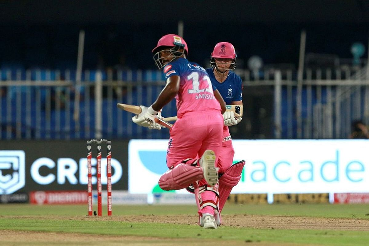 121-runs partnership between Steve Smith and Sanju Samson in just 56 balls was crucial to Rajasthan Royals amassing 216 runs in their first game