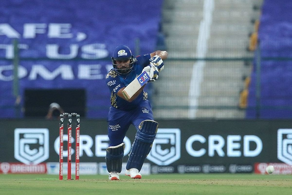 Rohit Sharma timed a boundary off the first ball of the game and this season of IPL