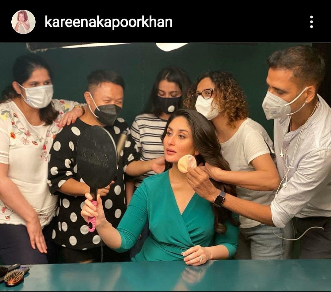 """Another day, another shoot... my warriors ❤️❤️"" - Kareena Kapoor Khan"