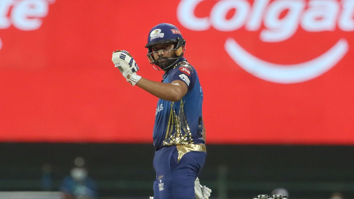 Captain Rohit Sharma led from the front with a 54-ball 80 to help Mumbai Indians post 195/5 against Kolkata Knight Riders.