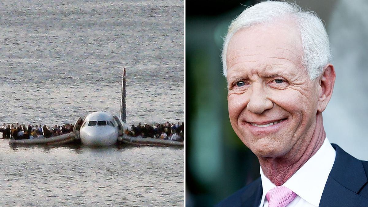 "Captain Chesley ""Sully"" Sullenberger belly-landed his aircraft in the freezing Hudson river in 2009."