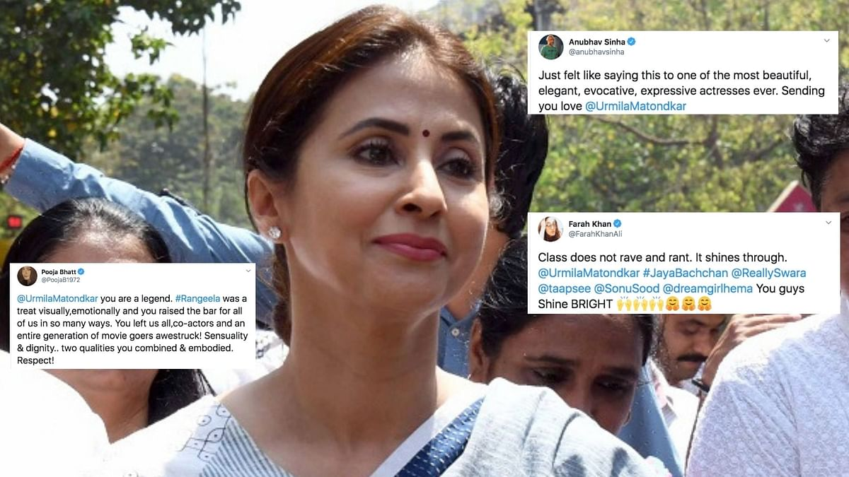 Twitter comes out in support of Urmila Matondkar.