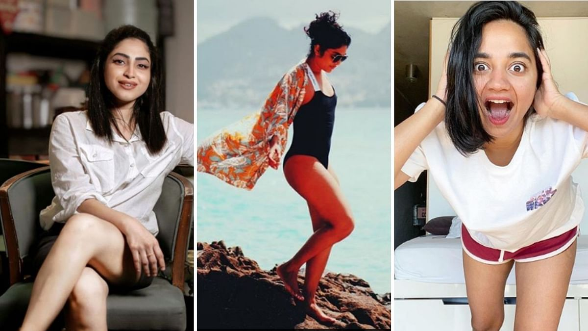 Why are Malayalam actors posting photos with 'women have legs' in the caption?