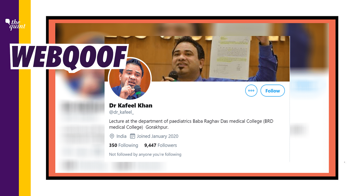 Fake Twitter Account of Dr Kafeel Khan Gains Traction After Bail