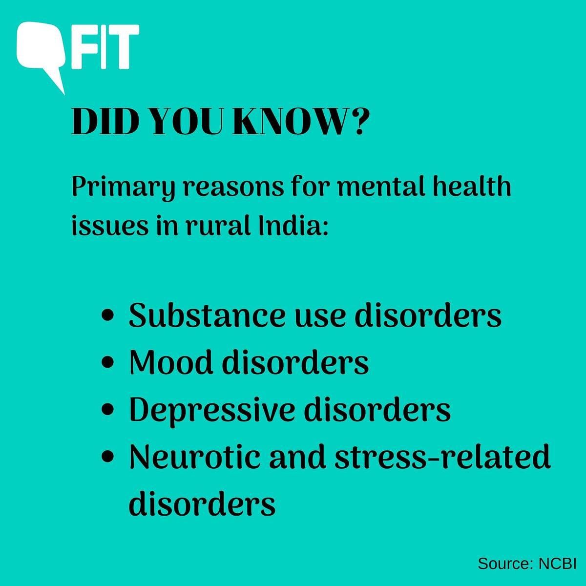 Mental health problems stem from a combination of biological, social, cultural and economic reasons.