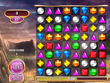 Ascreenshot from Bejeweled Blitz.