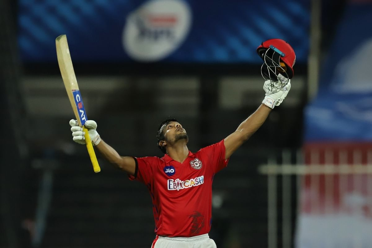 Opener Mayank smashed his maiden century in the Indian Premier League.