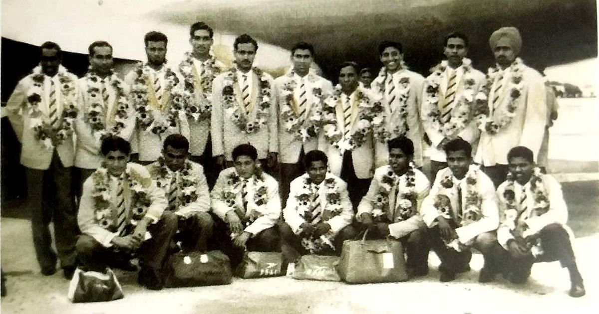 India's 1962 Asian Games gold medal-winning football team.