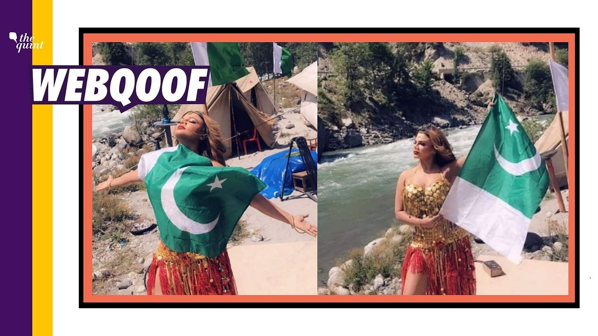 Old Rakhi Sawant Pics With Pak Flag Revived With Misleading Claim