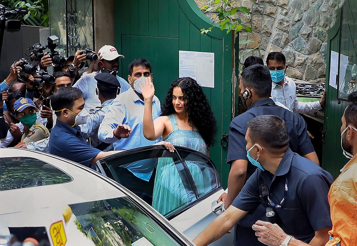 Kangana Ranaut at her Mumbai office.