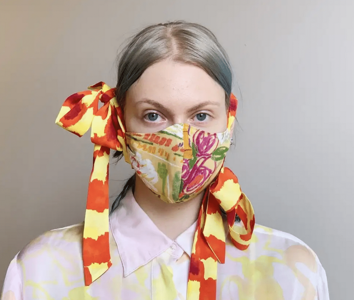 Collina Strada is selling face masks made from leftover fabrics.