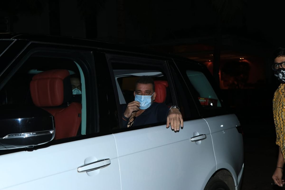 Sanjay Dutt leaves the Yash Raj Films studio.
