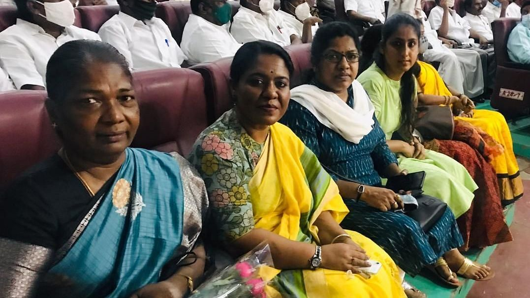 Anusuya Daisy Ernest (extreme left), now a retired police officer, was one among the few who managed to survive the Rajiv Gandhi assassination in 1991.