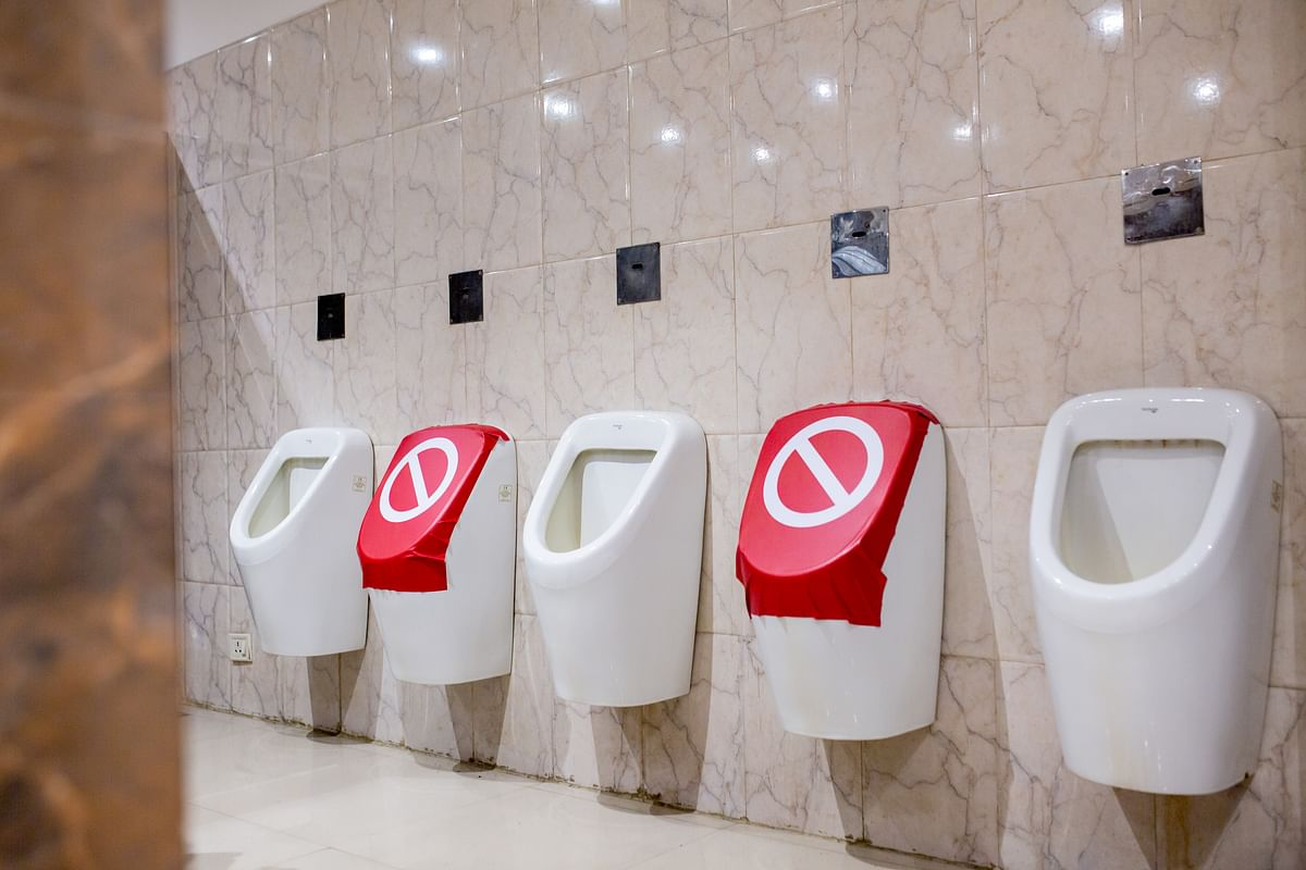 Washrooms will also have social distancing.