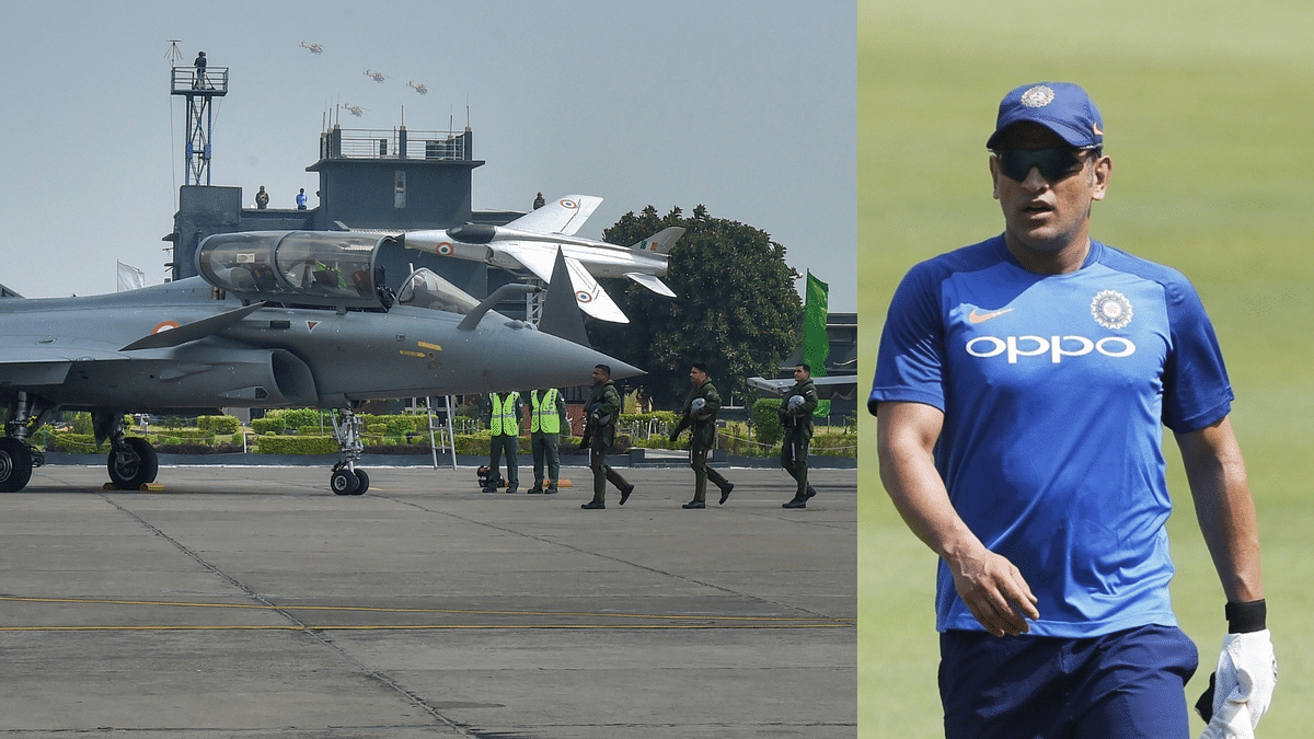 MS Dhoni has tweeted following the final induction ceremony of the Rafale jets into the Indian Air Force (IAF).
