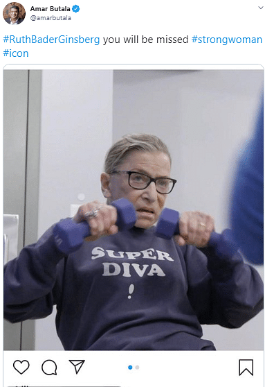 Desi Twitter Mourns The Loss of Justice Ruth Bader Ginsburg