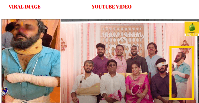 Left: Viral image. Right: YouTube video.