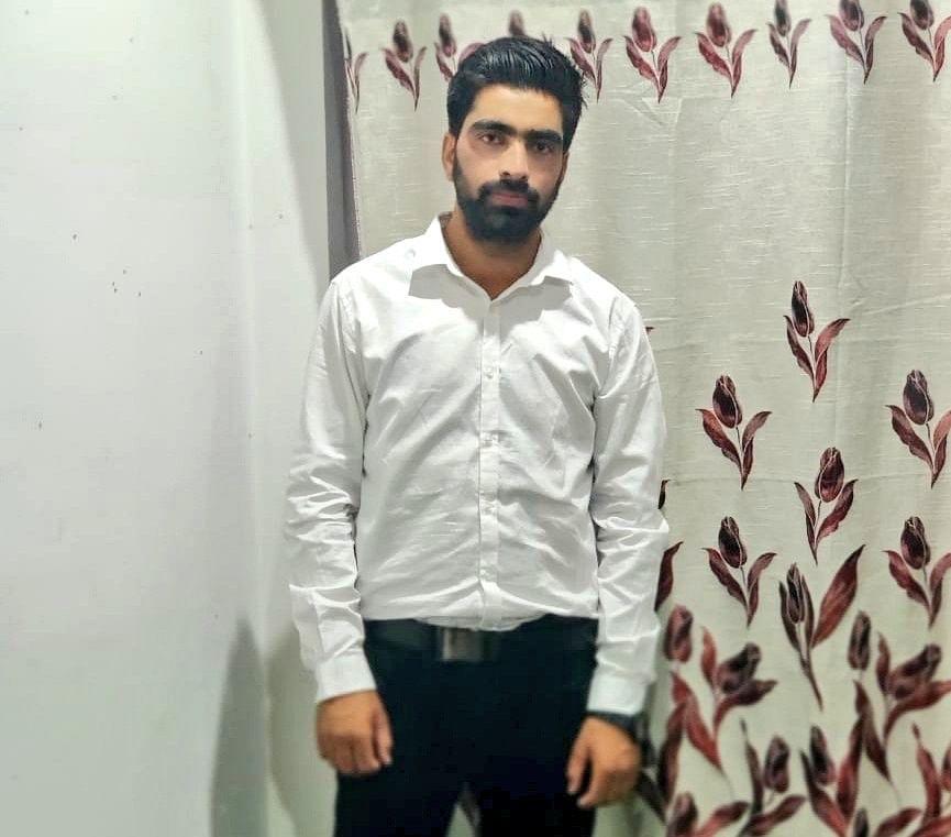 A photo of 23-year-old Irfan Ahmad Dar who was allegedly killed in police custody.