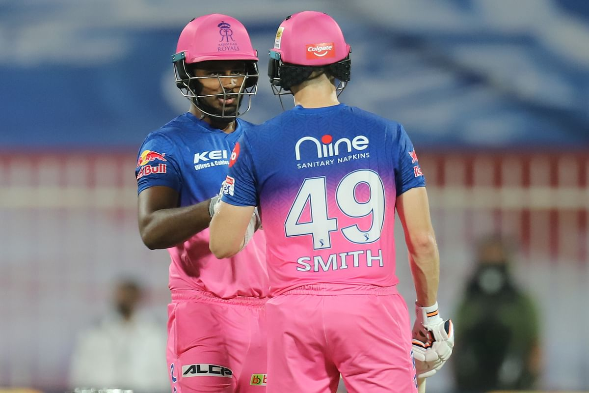 Steve Smith and Sanju Samson provided RR with a solid base in a difficult run-chase, ensuring that their side reach 100 before the 10th over.