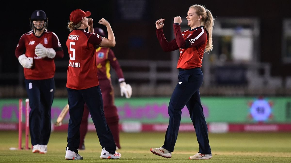 England's leg-spinner Sarah Glenn was the Player of the Match, after she starred with both bat and ball to give England its second win in as many games.