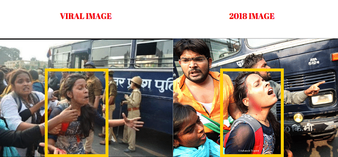 Left: Viral image. Right: 2018 image clicked by Ashutosh Tripathi.
