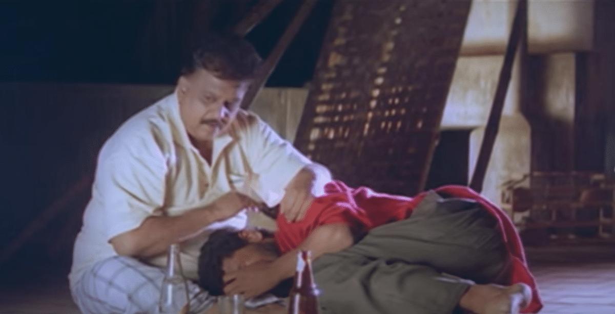 SP Balasubrahmanyam with Prabhudeva in <i>Kaadhalan.</i>