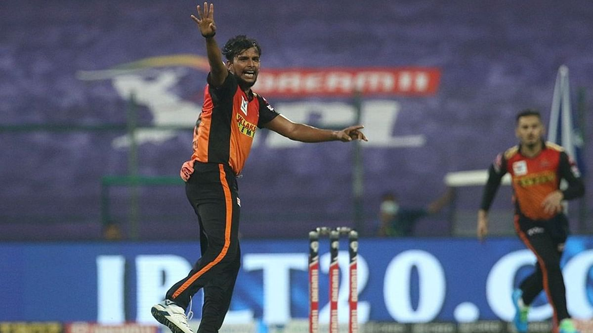 Twitterati Lauds SRH's Natarajan for His Amazing Yorker Execution