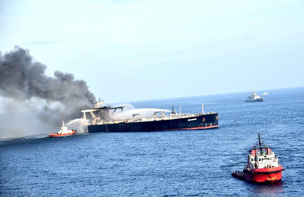 3 Days On, Fire-Fighting Ops Continue Onboard VLCC MT New Diamond