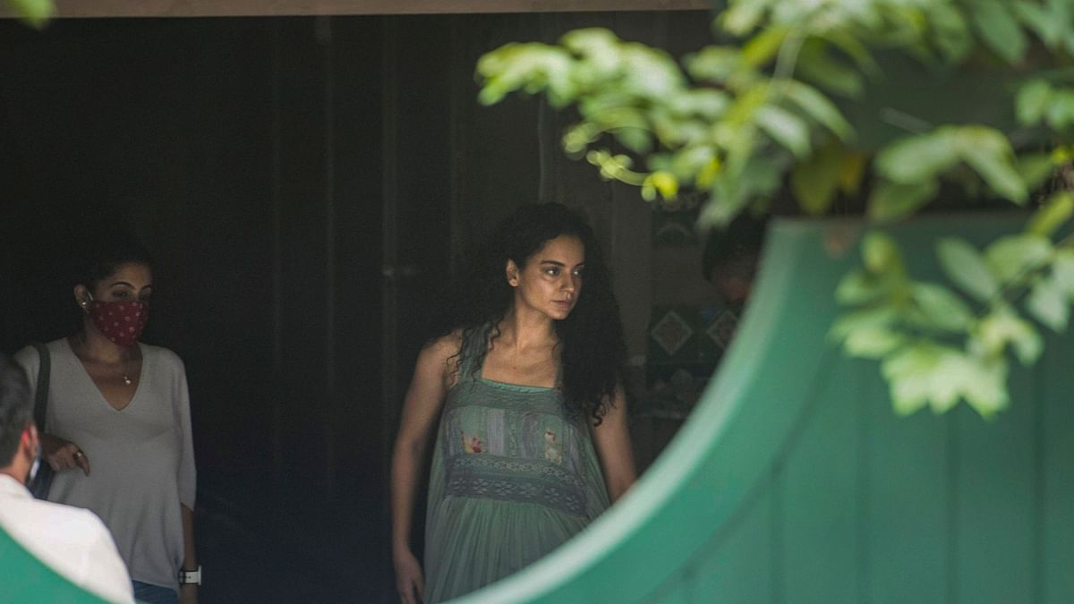 Kangana Ranaut at her residen in Mumbai on Thursday, 10 September