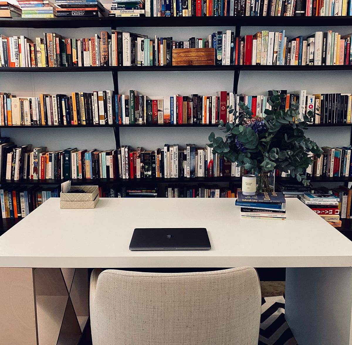A photo of Avni Doshi's writing desk at home. It took her seven years and eight drafts to complete her debut novel which is on the Booker 2020 shortlist.