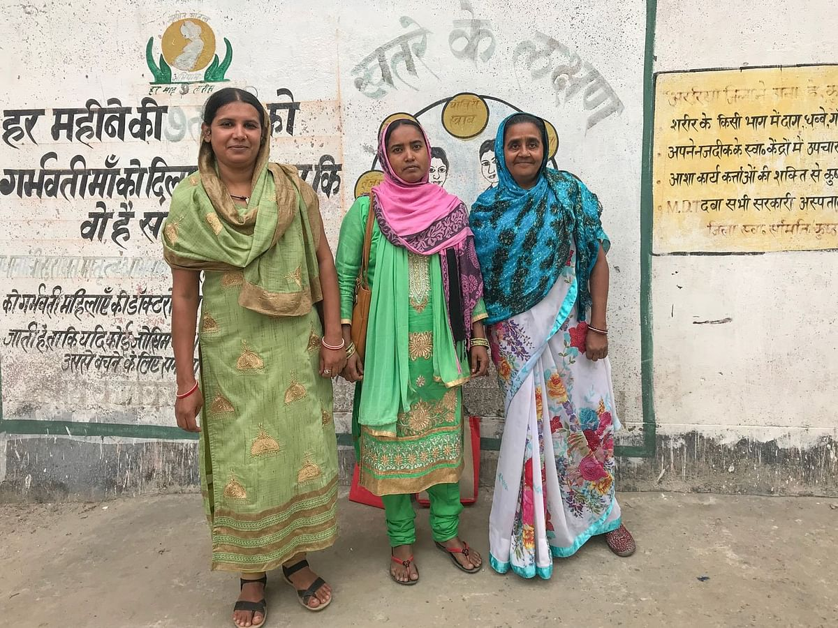 'As women, we can't be seen talking to men about sterilisation,' say ASHA workers in Rampur village of Bihar's Araria district: Nusrat Banno (left), Nikhat Naaz (middle) and Zubeida Begum (right).