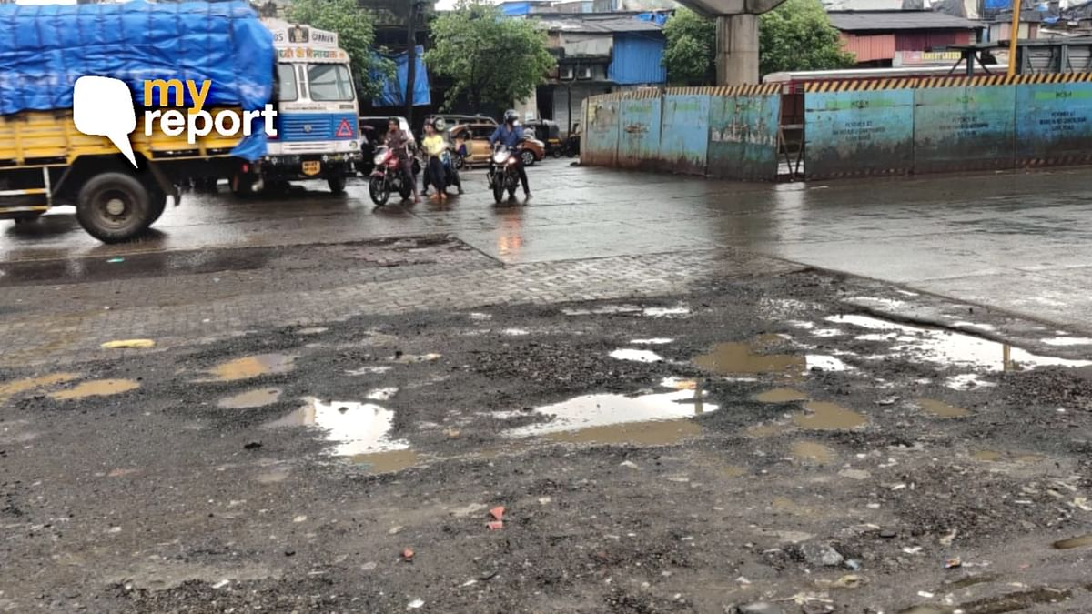Locals in Mumbai's Govandi demand for the pothole-ridden road to be filled on a permanent basis.