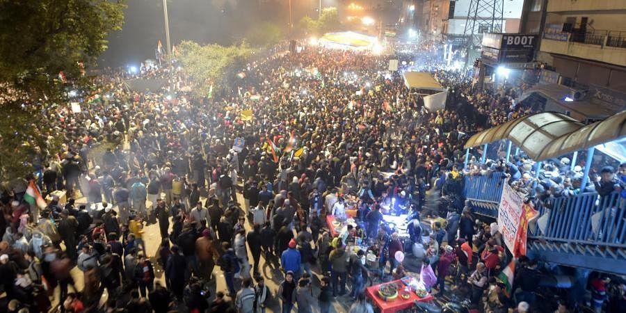 Anti-CAA protests at Shaheen Bagh.