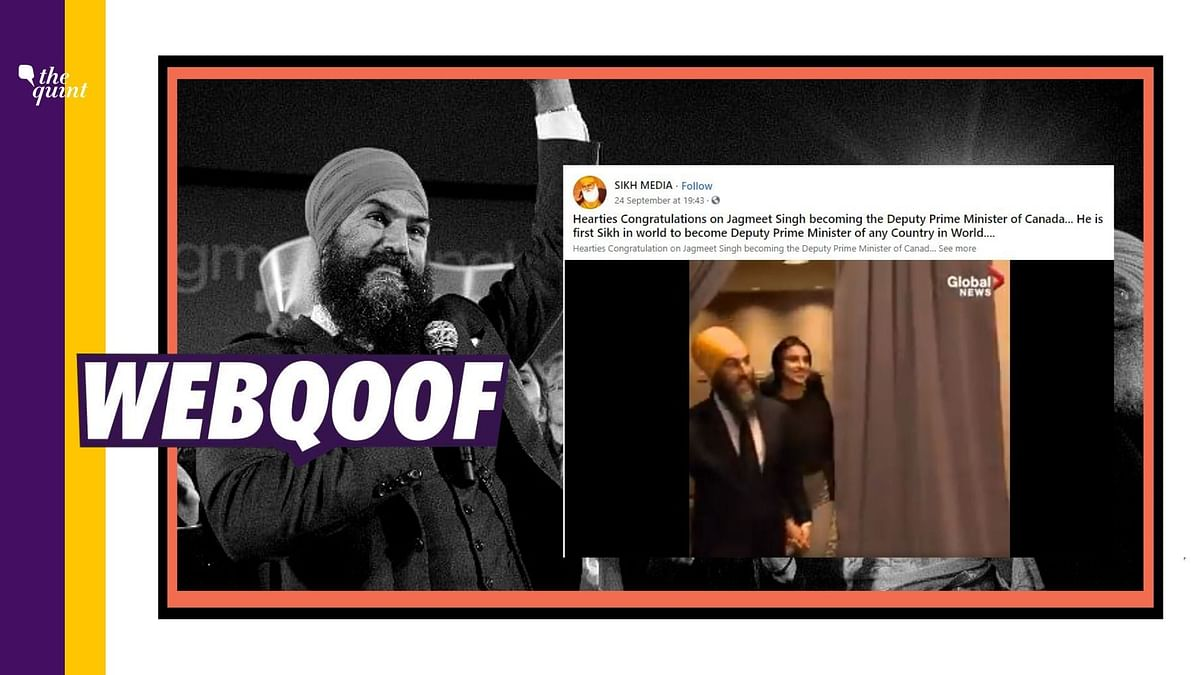 A viral set of videos and photos are being shared to claim that Jagmeet Singh has been appointed as the Deputy Prime Minister of Canada.