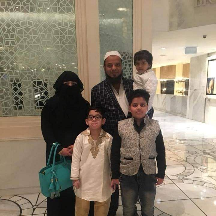 This is Khalid's family, his wife Nargis and three children. While the kids know that their father is in jail, they are not aware about the custodial torture, his wife says.
