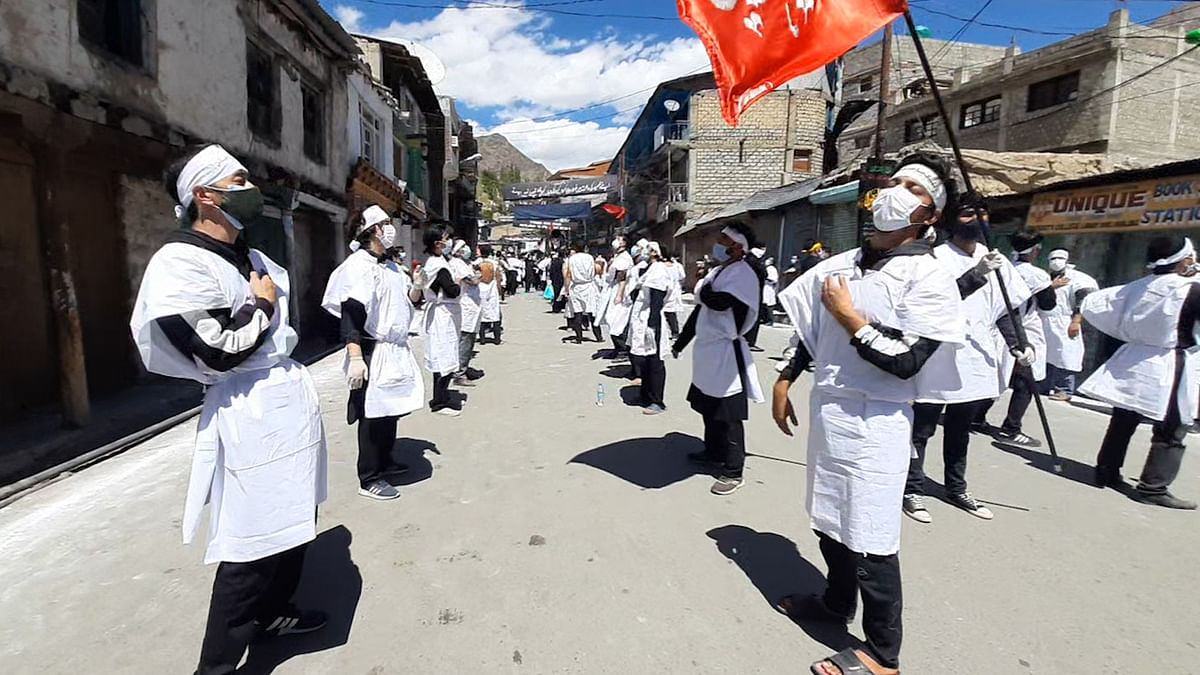 In view of the COVID-19 pandemic, a masked Muharram is being observed in Kargil.